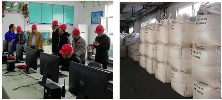 中国金属学会领导到我司SO2资源化项目现场参观考察